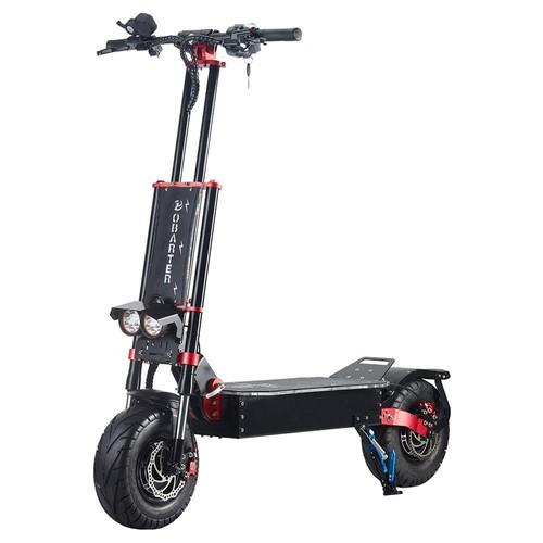 "OBARTER X5 Folding Electric Sport Scooter 13"" Off-road tyre 2800W x2 Brushless Motor 60V 30Ah Battery BMS 3 Speed Modes Oil Disc Brake Max Speed 85KM/h LED Display 65km-75km Long Range - Black"