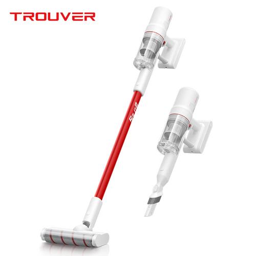 Aspirateur sans fil portable Dreame TROUVER SOLO 10 Moteur 300W 85AW 18000Pa Aspiration forte Batterie 2000 mAh Durée de fonctionnement 48 minutes Écran LCD Coupe-poussière amovible - Blanc