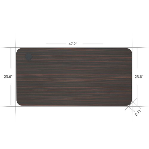 ACGAM 120*60*1.8 CM MDF High Quality Table Top Suitable for ACGAM Electric Standing Desk Frame (Single Motor and Dual Motor) - Mahogany