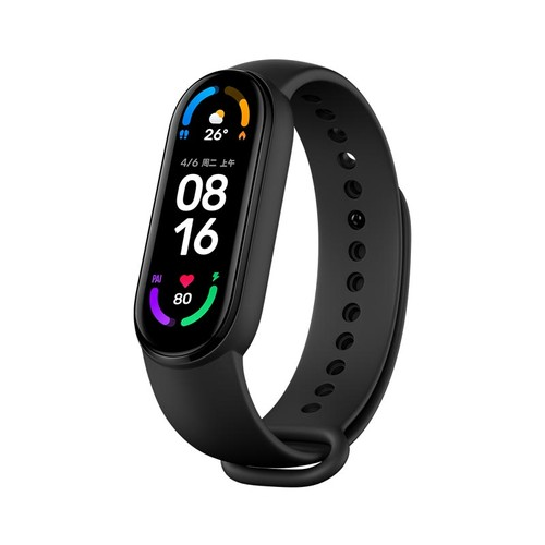 Xiaomi Mi Band 6 Smart Bracelet Heart Rate Oximetry Monitor 1.56 inch Screen Bluetooth 5.0 50 Meters Water Resistance 30 Sports Modes CN Version - Black