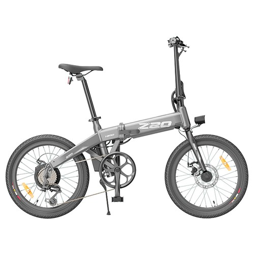 HIMO Z20 Folding Electric Bicycle 20 Inch Tire 250W DC Motor Up To 80km Range 10Ah Removable Battery Shimano 6_speed Transmission Smart Display Dual Disc Brake Europe Version  Gray