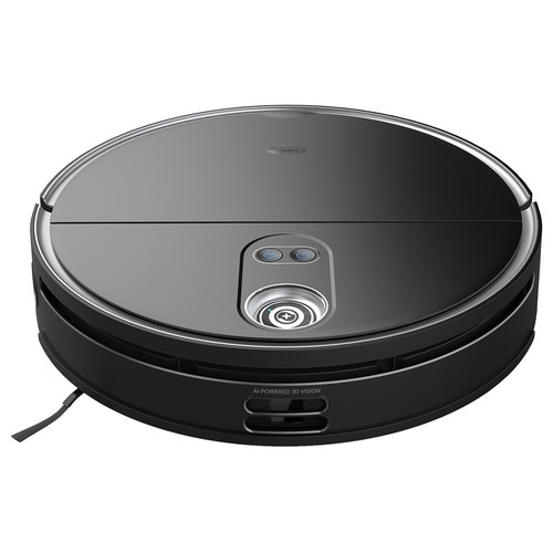360 S10 Robot Vacuum Cleaner 3300Pa Suction Vacuuming Sweeping Mopping Integrated Triple_eye LiDARs Navigation 3D Obstacle Avoidance UItra_slim Design Auto Carpet Detection 5000mAh Battery 520ml Water Tank Alexa Google Assistant APP Control  Black