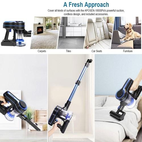 APOSEN H251 Cordless Vacuum Cleaner 250W Brushless Motor 24000pa Suction
