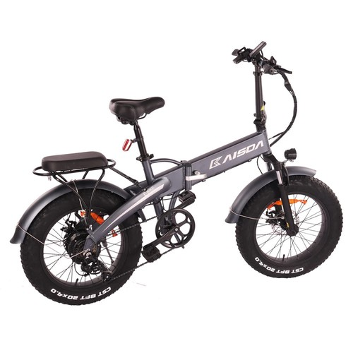 KAISDA K2 20*4.0 inch Fat Tire CST Tire Off-road Folding Electric Moped Folding Bike Mountain Bicycle 500W Motor SHIMANO 7-Speeds Derailleur LCD Display 10Ah Battery Max Speed 35km/h Aluminum alloy Frame - Grey