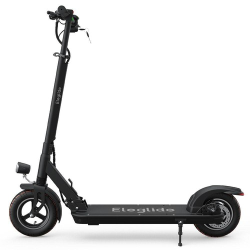 """Eleglide S1 Folding Electric Scooter 10"""" Pneumatic Tires 400W Motor 3 Speed Modes 36V 8.0Ah Battery 24km/h Max Speed up to 30km Max Range Rear Disc Brake - Black"""