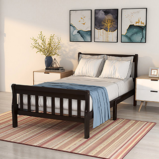Steel and wooden bed frames, twin size, full size, queen size are all in new style