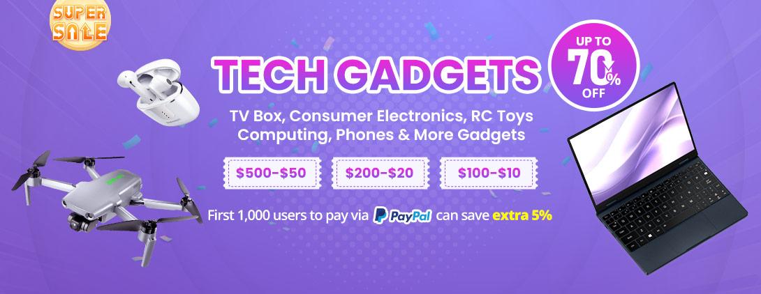 Super promoção de gadgets de tecnologia