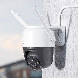 Caméra IP FHD 1080p, vision nocturne, résistante aux intempéries IP66, avec réflecteur et alarme sonore