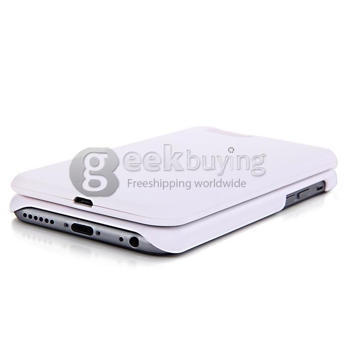 Nieuw Mini Wireless Bluetooth Keyboard Slide Extension Keyboard Case Cover voor iPhone6 Wit