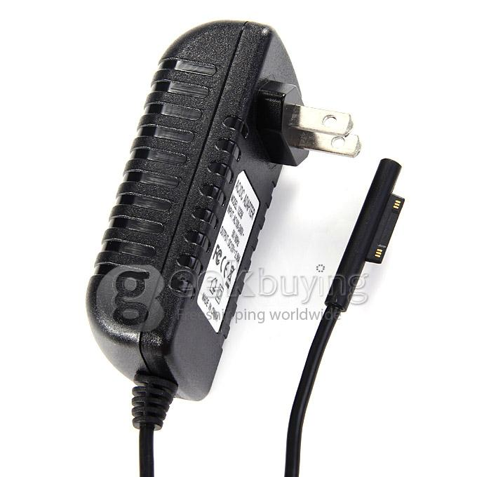 UK Plug Wall Travel Adapter Charger with Car Charger Adapter Power Supply for Microsoft Surface Pro 3 12 Inch Tablet