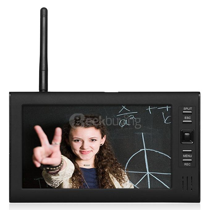 """Wireless 2.4G 4CH DVR 2 Camera with 7/"""" TFT LCD Monitor Home Security System"""