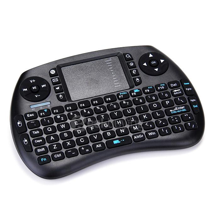 IPazzPort KP-810-21S-1 Mini 2.4GHz Wireless Keyboard Air Mouse Remote Control Touchpad for Android Smart TV Box - Black