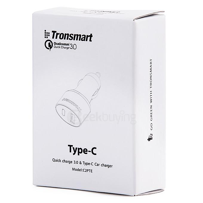 [Spain Stock]Tronsmart 30W 2 Ports Quick Charge 3.0 Type-C*1 + USB 2.0 VoltIQ*1 Car Charger