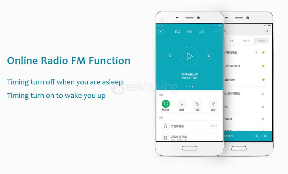 Original Xiaomi Mi Smart WiFi Remote Control Multi-functional Gateway Upgraded Version +Temperature and Humidity Sensor- White