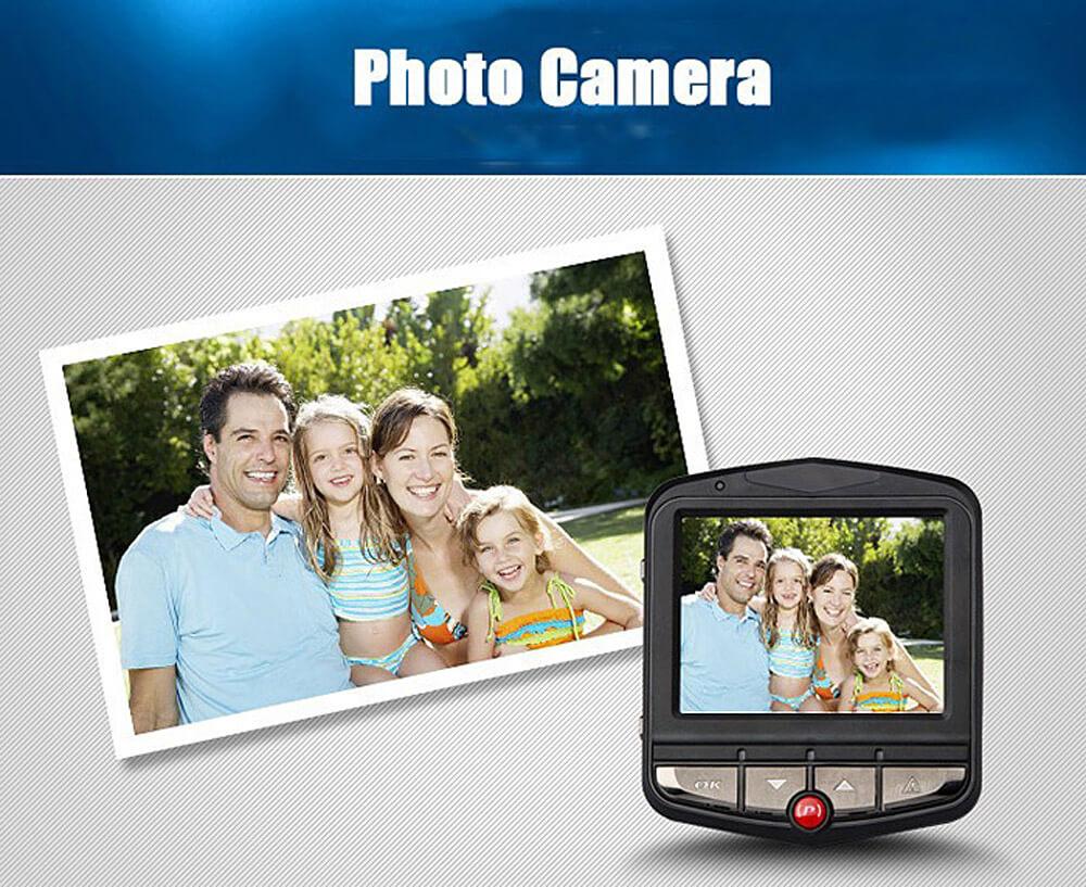 HP320 1080P 2.4inch Car Dashcam Video Recorder Novatek96220 CMOS Image Sensor 120 Degree View Angle Car DVR Night View Car Camera - Black