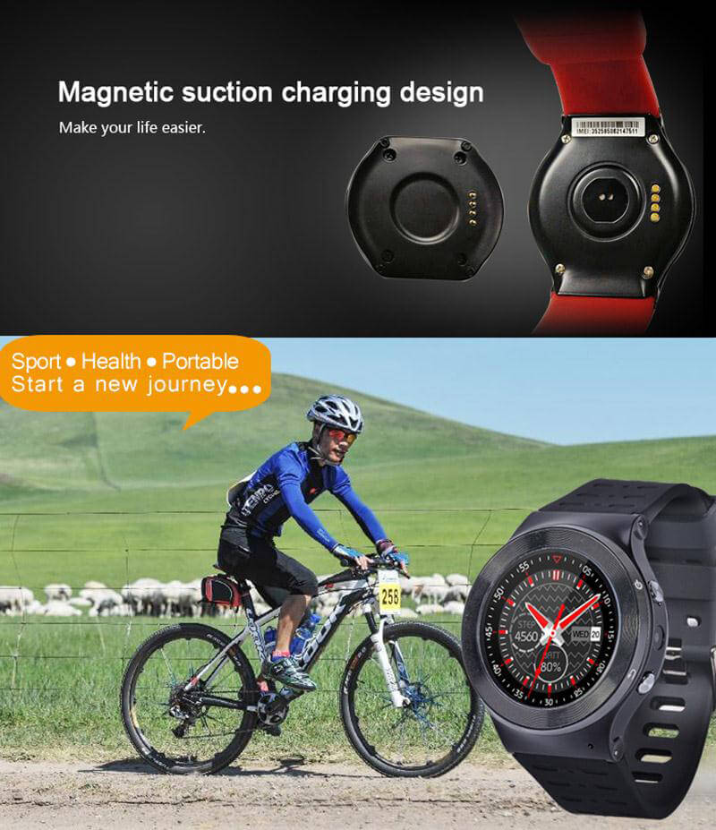 ZGPAX S99 3G Smartwatch Phone Android 5.1 OS 1.33 inch MTK6580 Quad Core 1.3GHz 512MB RAM 8GB ROM Google Play GPS Bluetooth 4.0 WiFi - Black-silver