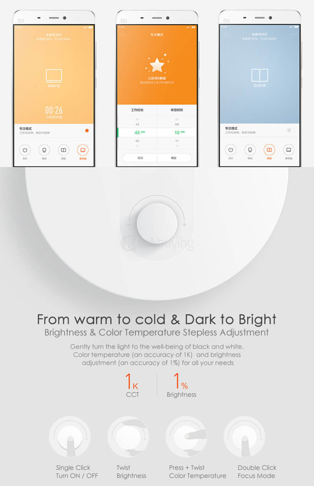 Original Xiaomi Mi Smart LED Lamp - White