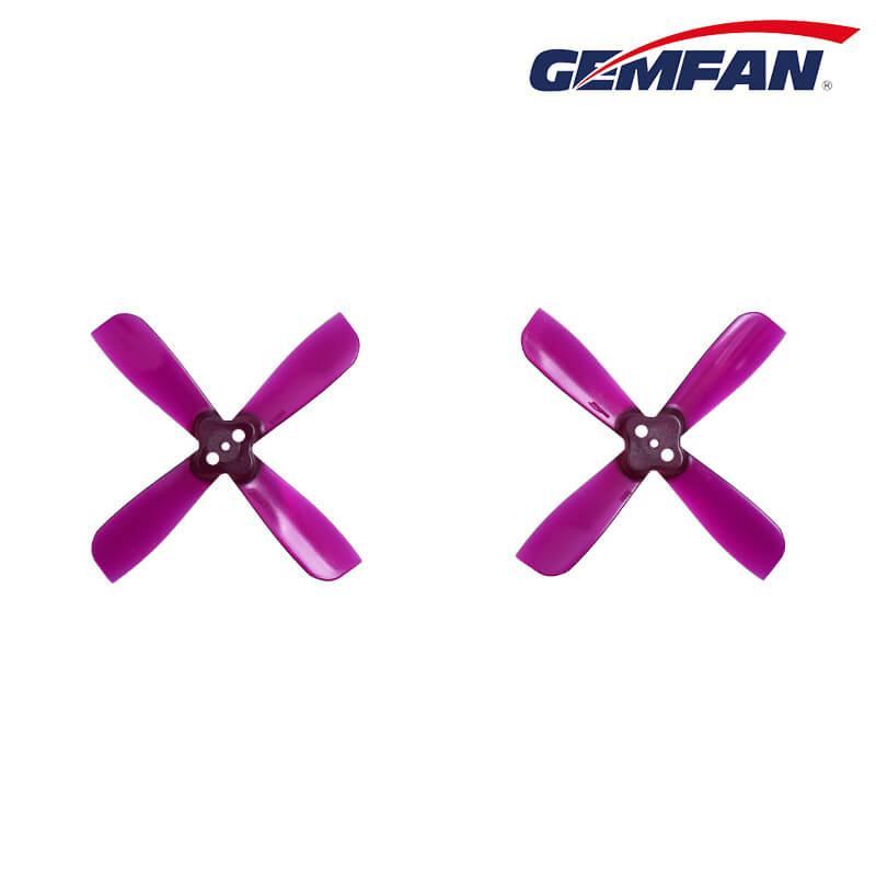Gemfan 2035BN 2 X 3.5 4 έλικα λεπίδας 1.5mm τρύπα συναρμολόγησης CW CCW για μικρά αγωνιστικά Quadcopter - μοβ
