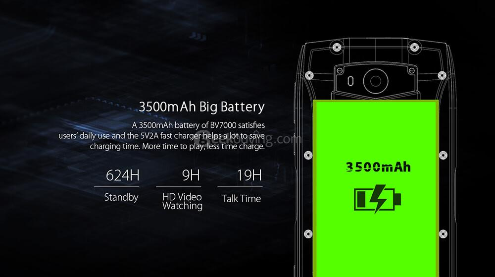 [HK Stock] Blackview BV7000 5.0 Inch Smartphone IP68 Αδιάβροχη οθόνη FHD 2GB 16GB MT6737T 8.0MP Κάμερα Android 7.0 Αφής ID NFC - Γκρι