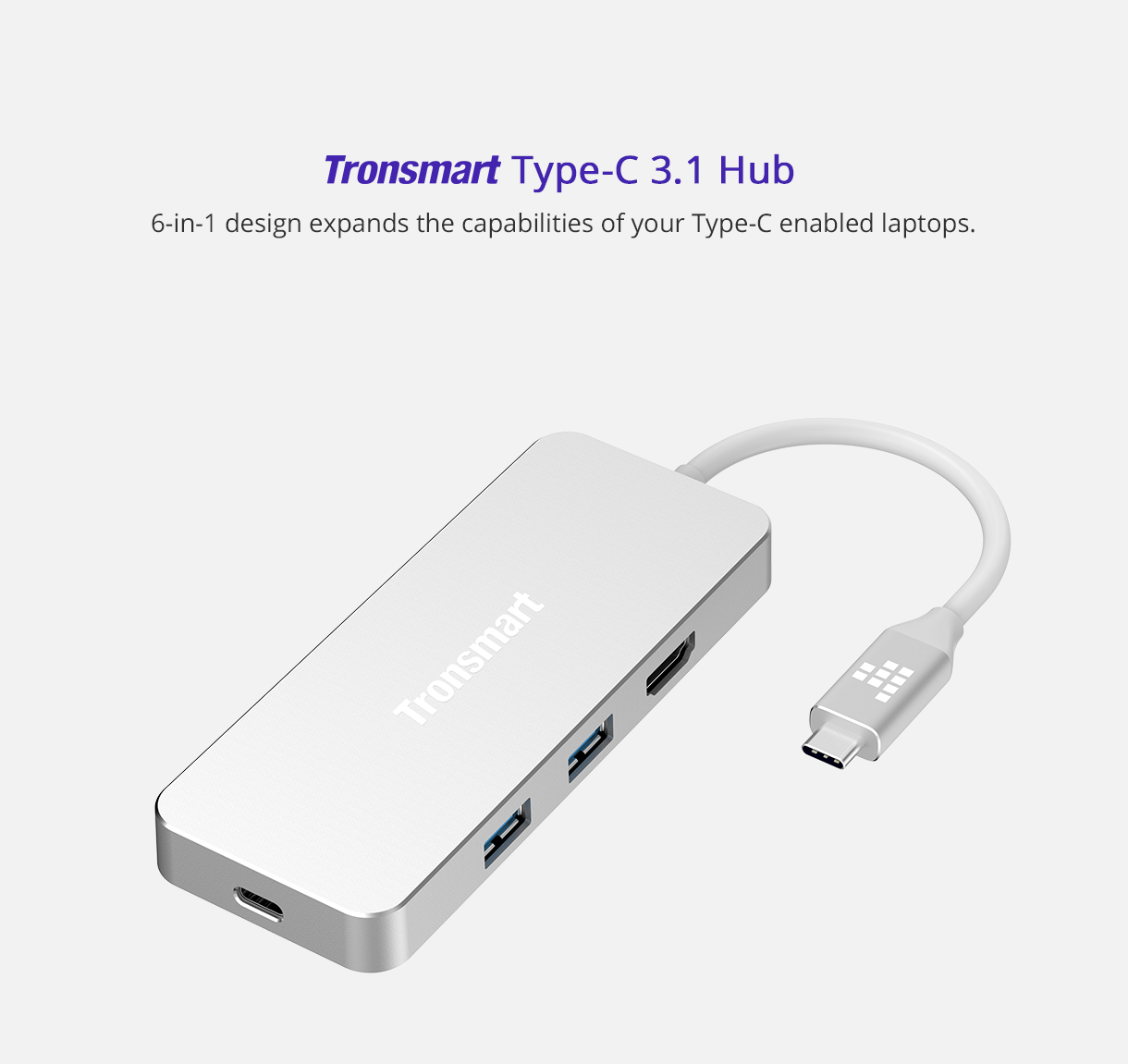 4 in1 USB-C Hub Type-C Aluminum Card Reader Adapter For Phone Computer EF