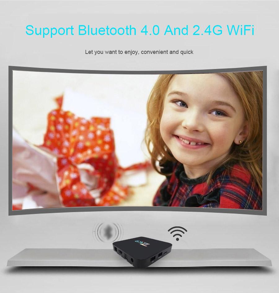 Z69 4K UHD Smart TV BOX KODI Android 6.0 Marshmallow Amlogic S905X 3GB/32GB 802.11b/g/n LAN Bluetooth