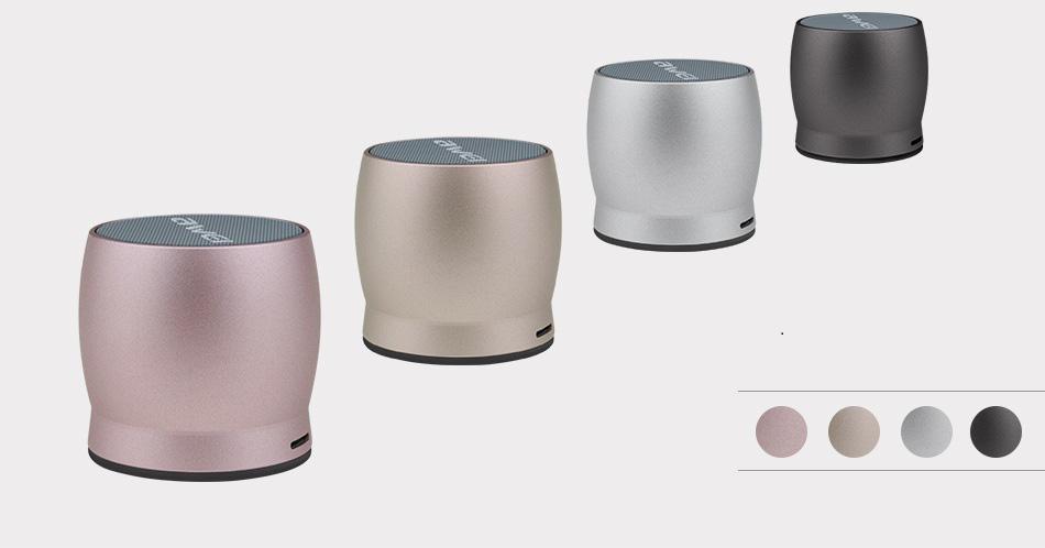 AWEI Y500 Mini haut-parleur Bluetooth sans fil Musique stéréo en métal Appels mains libres Prise en charge AUX / TF - Or rose