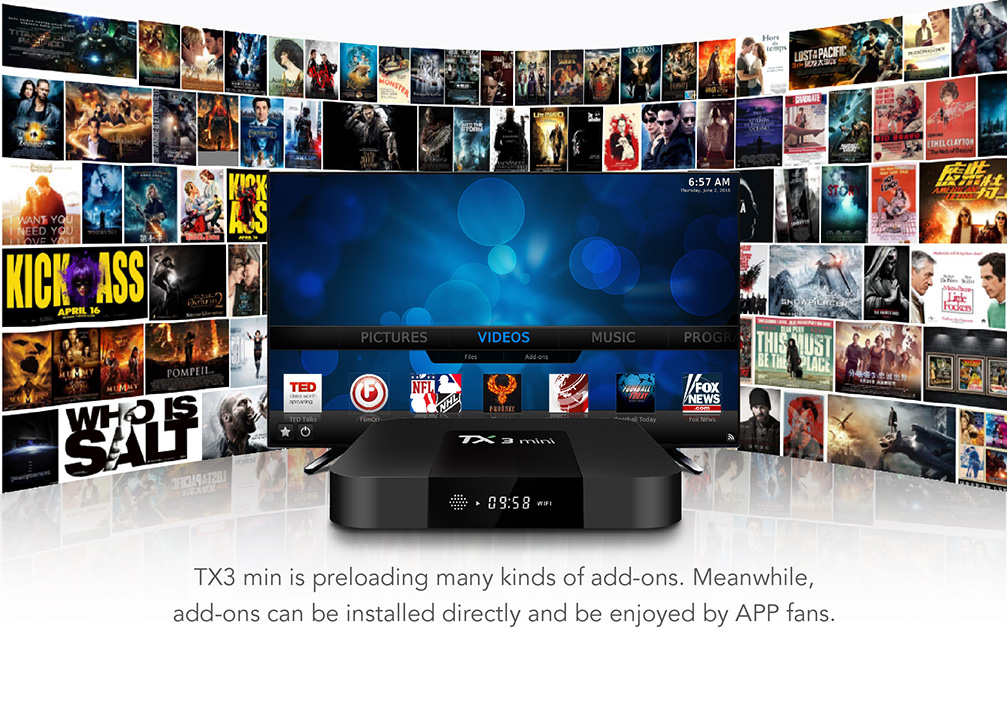 TANIX TX3 MINI Android 7.1 KODI 17.3 Amlogic S905W 4K TV Box 2GB/16GB WIFI LAN