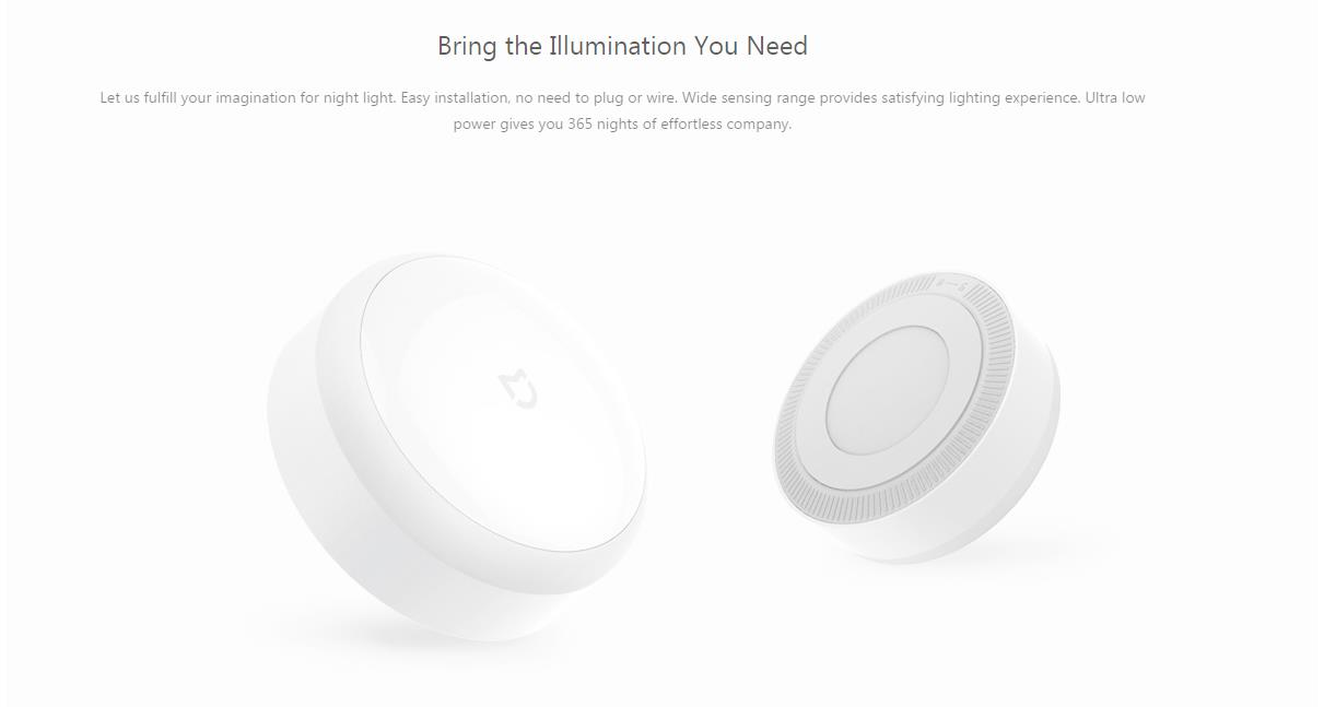 Xiaomi Mijia Smart Night Light IR Sensor Photosensitive Light -White