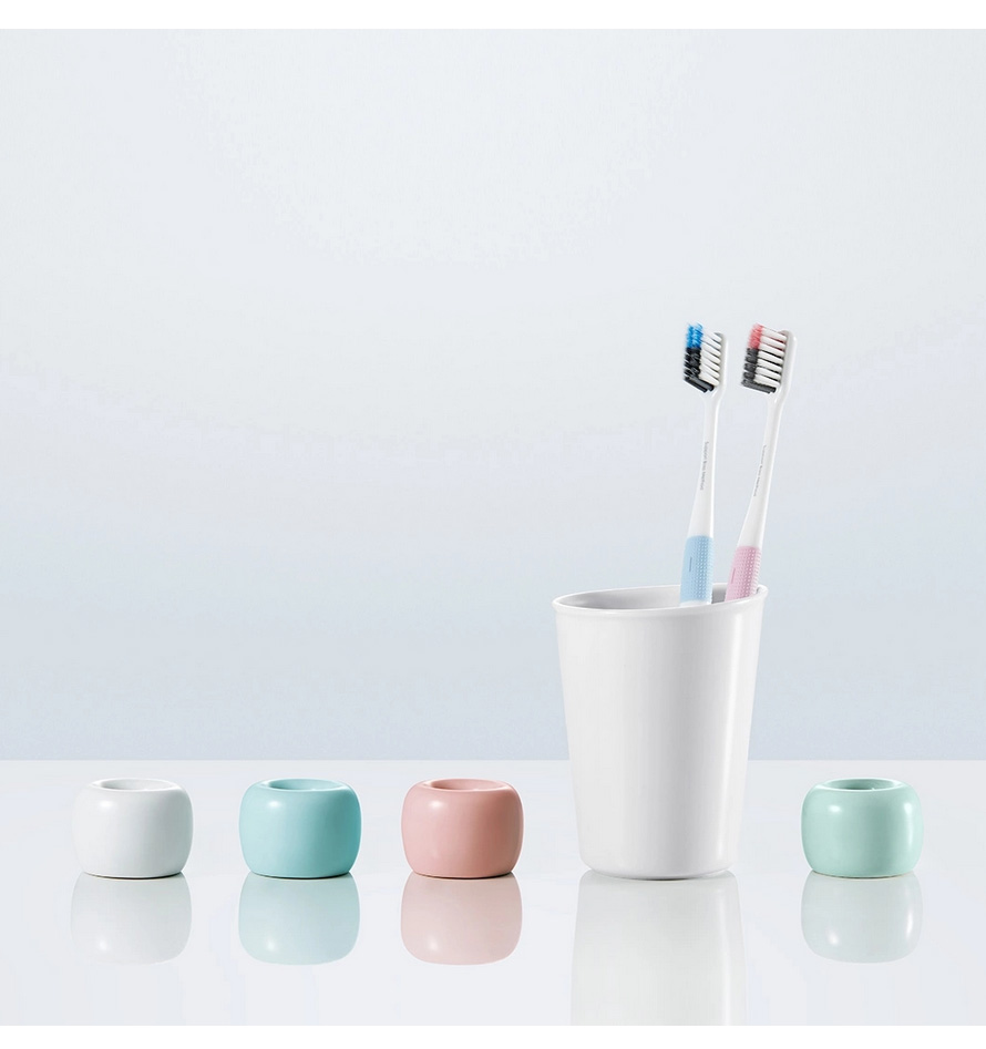 4PCS Xiaomi Doctor Bei Bass Toothbrush Handle Manual Eco-friendly Toothbrush with Travel Box