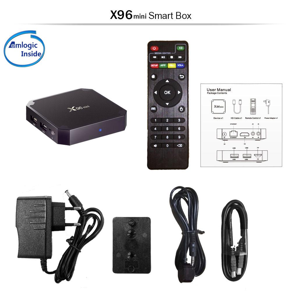X96 Mini TV Box Android 7.1.2 Amlogic S905W Quad Core WiFi HD 2G 16G 4K Player