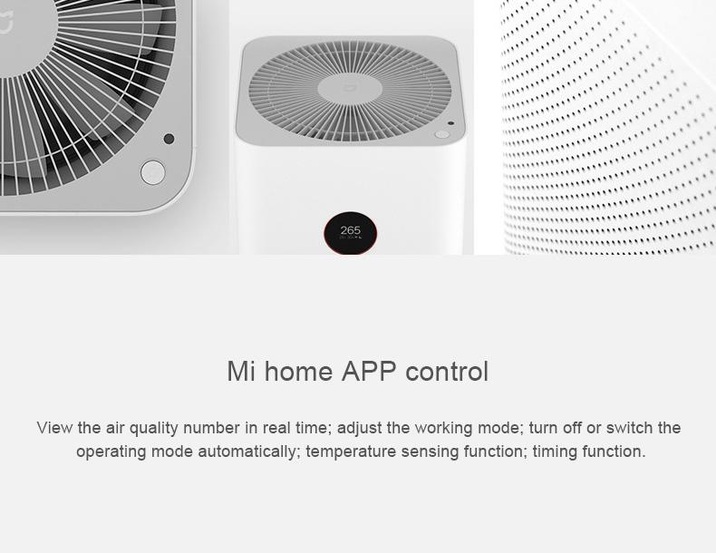 Original Xiaomi Mi Air Purifier Pro APP Control Light Sensor Multifunction Smart Air Cleaner - White