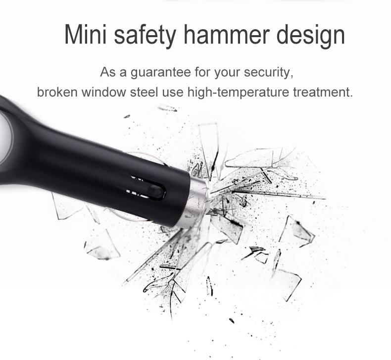 Nanum KXQ01 Car Charger Aroma Diffuser Cup Holder Car Cigarette Lighter Socket Car Air Purifier Dual USB Ports - Black