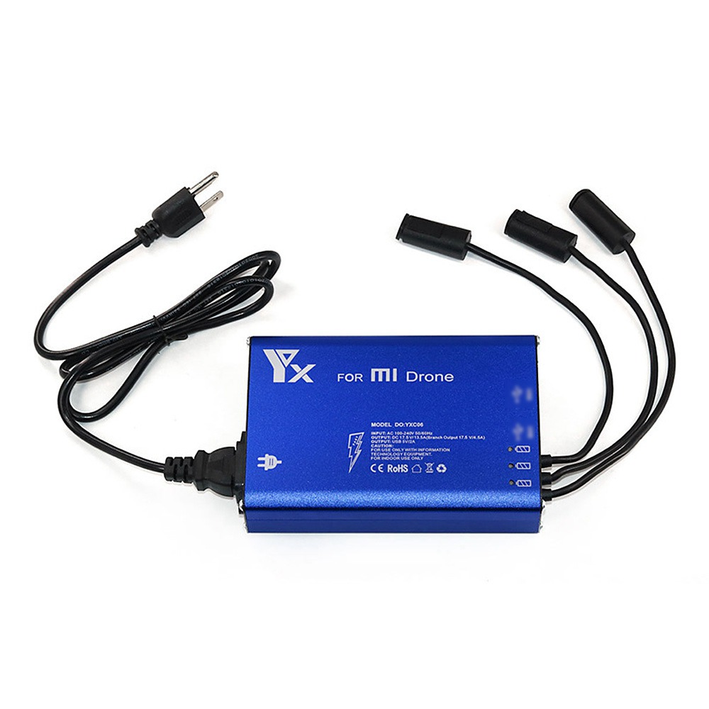 3 in 1 Charger for Xiaomi Mi Drone Transmitter and Smart Battery - US Plug