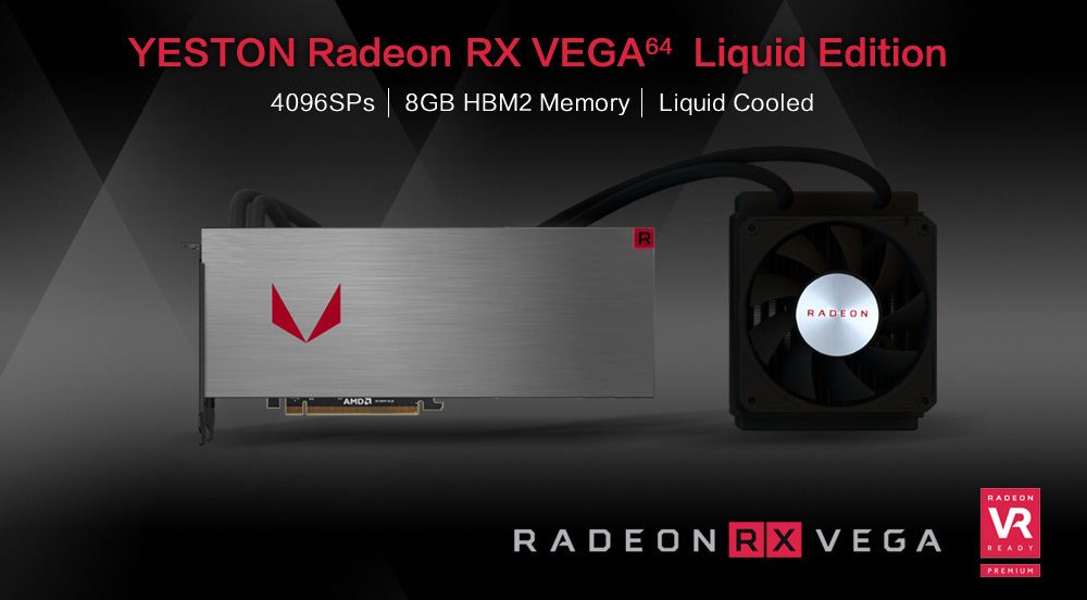 Yeston Radeon Rx Vega 64 Liquid Edition Gaming Graphics Cards