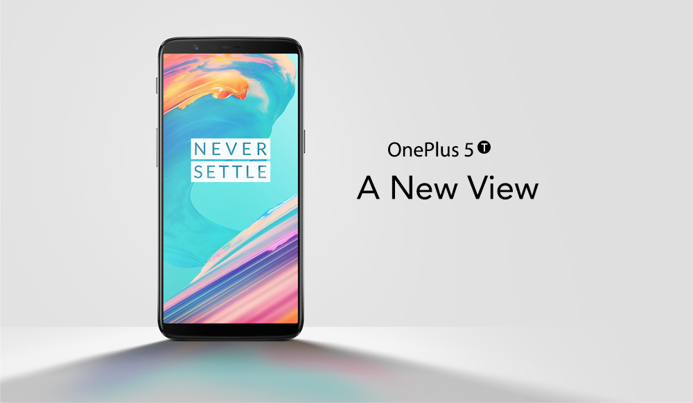 [Official Global ROM]OnePlus 5T 6.01 Inch Smartphone 18:9 FHD+ Screen Snapdragon 835 Octa Core 6GB 64GB 20.0MP+16.0MP Dual Rear Cam OxygenOS NFC Dash Charge Type C - Black