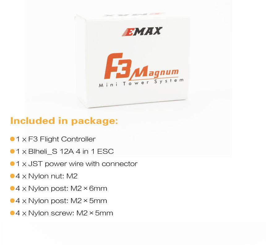 F3 Emax F3 Magnum Mini Tower System 20x20mm 3-4S BLheli/_S 12A 4 In 1 ESC