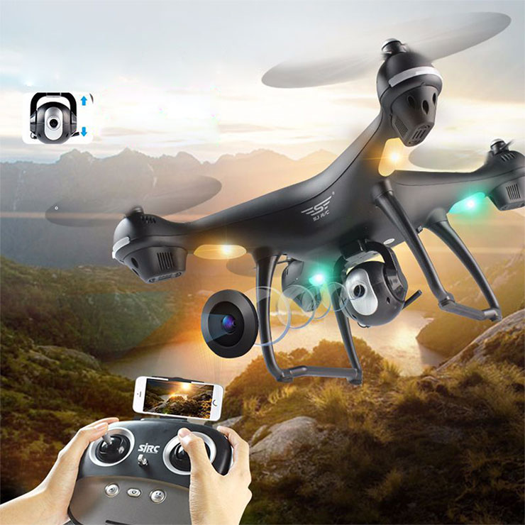 SJRC S70W Dual GPS 2.4G WIFI FPV Drone with 720P HD Camera Follow Me Mode RC Quadcopter RTF - White