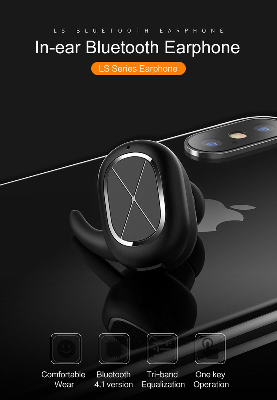 USAMS US LS001 Mini Bluetooth Inalámbrico 4.1 Auriculares