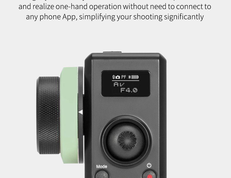 Zhiyun Crane 2 Motion Sensor Remote Control with Follow Focus 2.4G Wireless Control 25 Hours Runtime Visualized Parameters On OLED Screen
