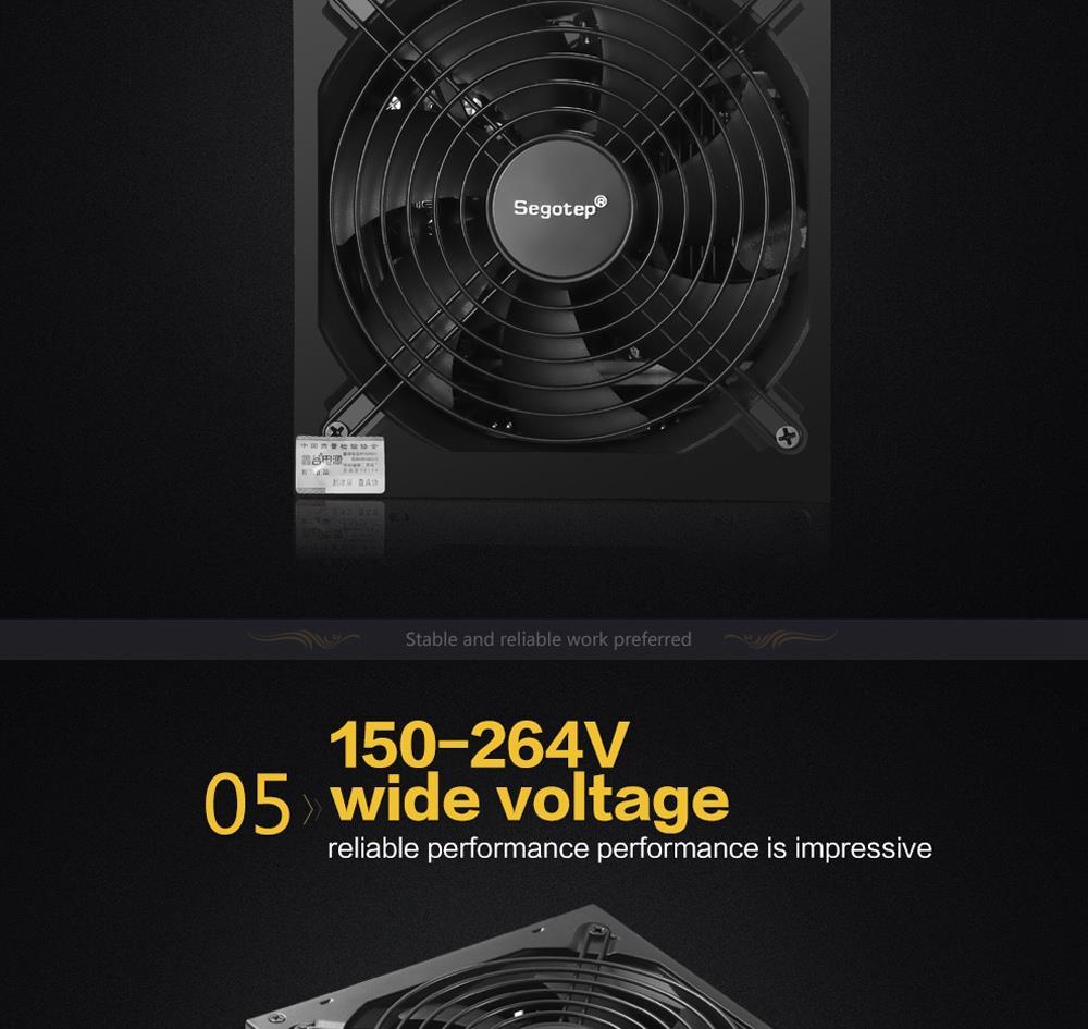 Segotep GP1800G 1700W Power Supply Mining Version With 14cm Fan - Black