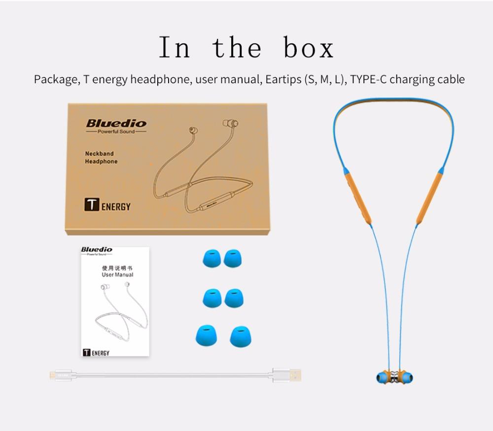 Bluedio TN Bluetooth-наушники с магнитным приводом с двойным микрофоном Активное шумоподавление - черный