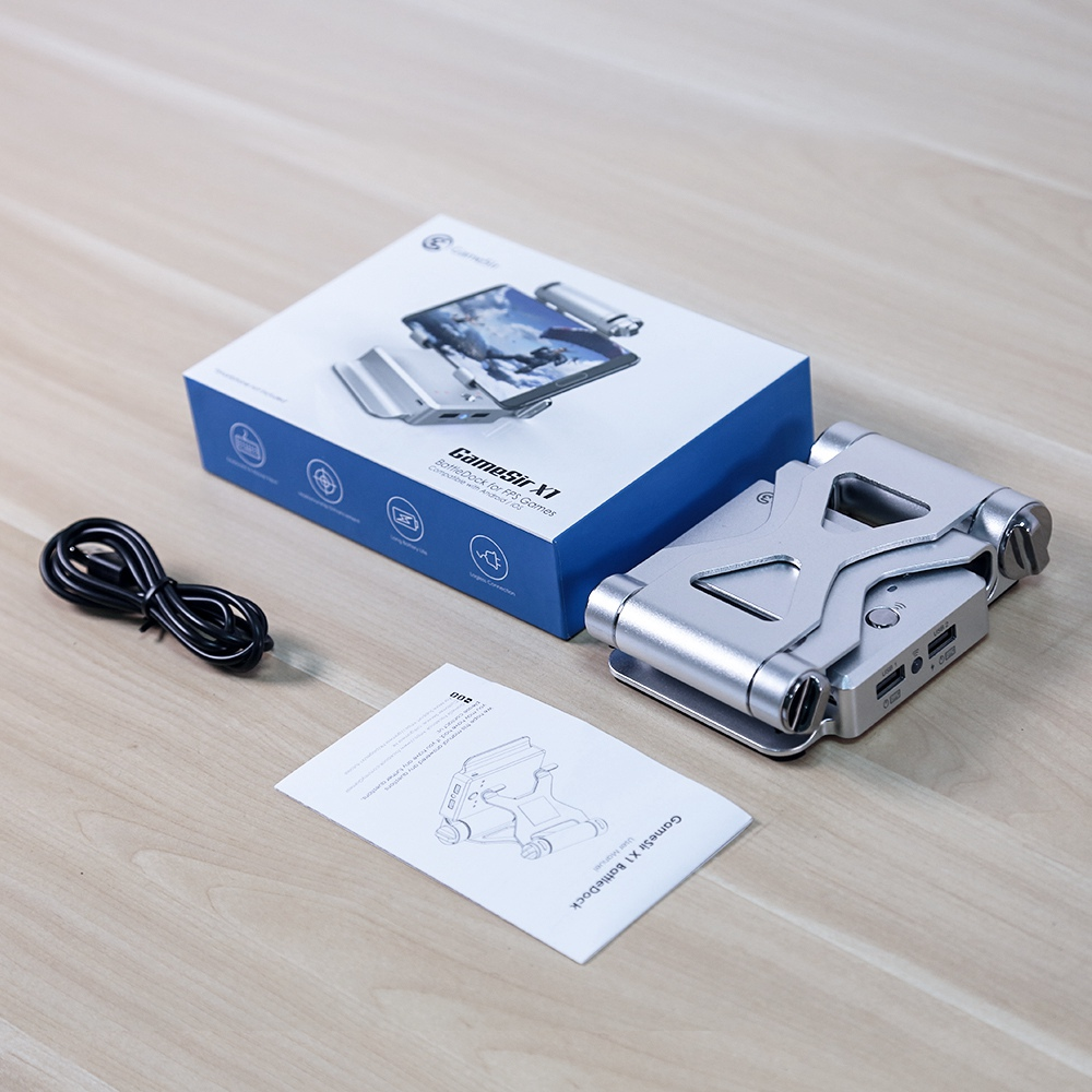 GameSir X1 Bluetooth BattleDock converter Toetsenbord en muisadapter voor FPS Games RoS Knives Out Free Fire Silver