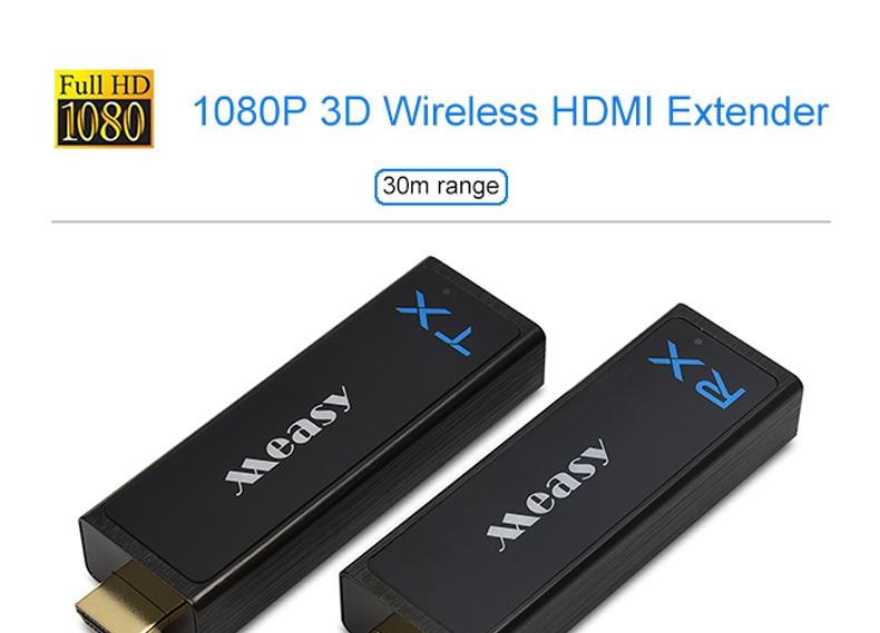Measy W2H Nano 1080P 3D Wireless HDMI Extender Video Audio Transmitter Kit 100FT