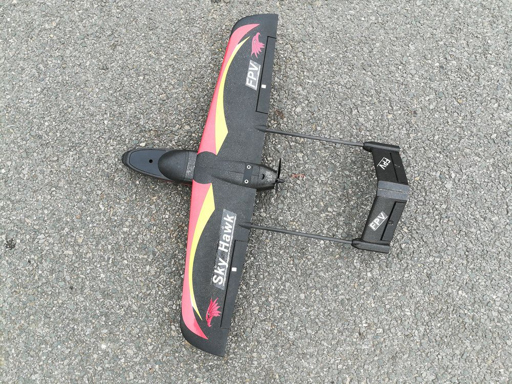 E-DO Sky Hawk-V1 940mm Wingspan EPP FPV RC Airplane Black - PNP Version