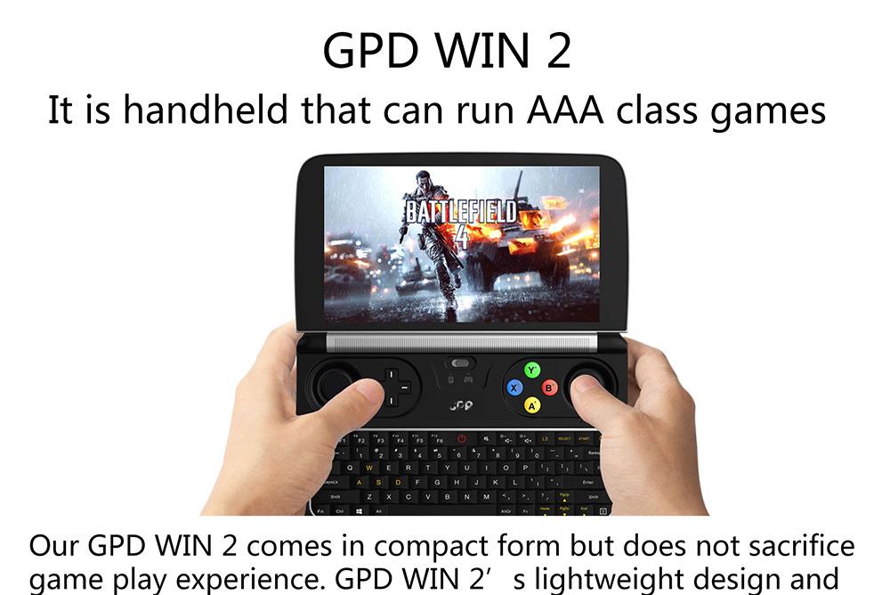 Gpd Win 2 Gamepad Tablet Pc 8gb 128gb Black