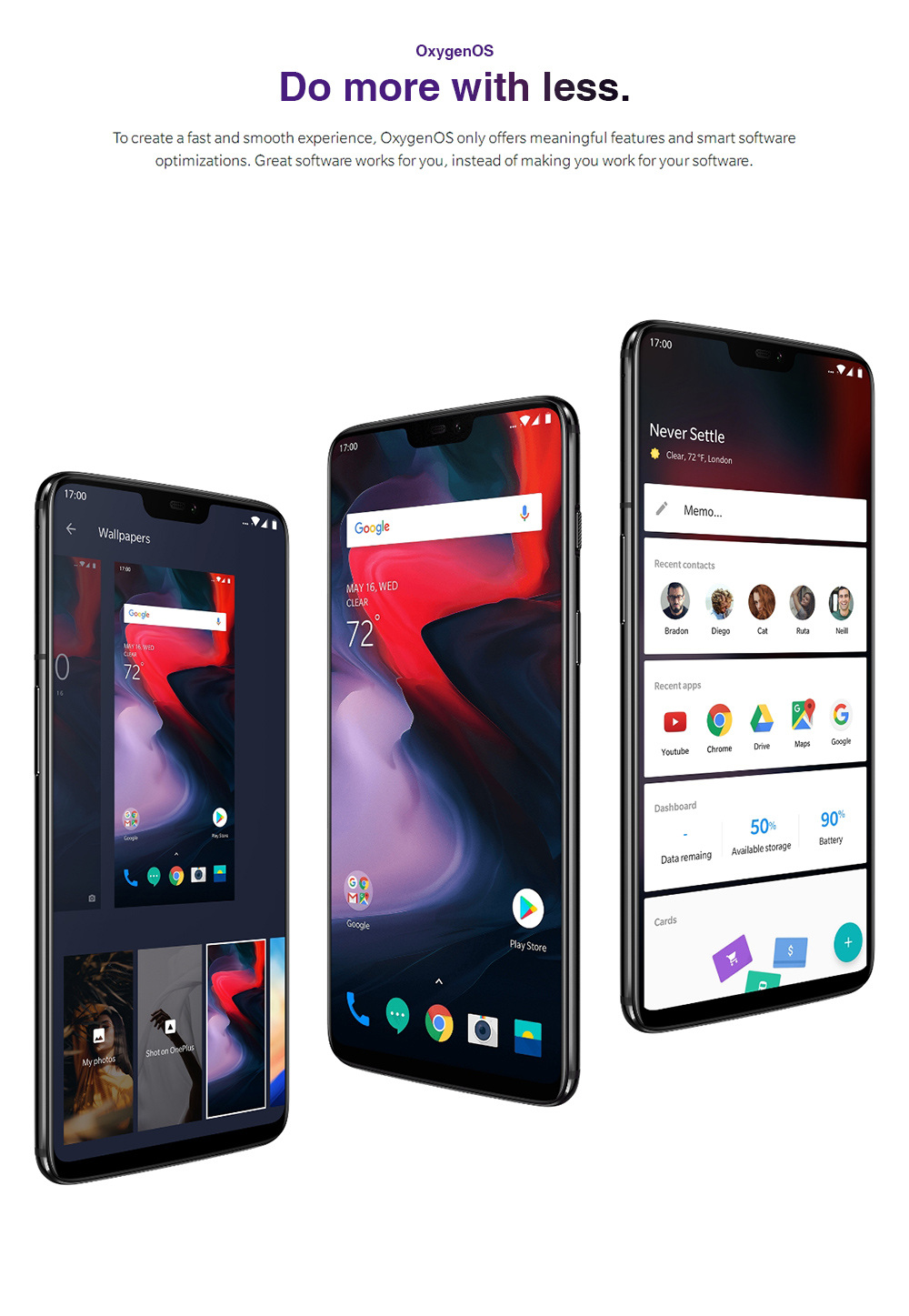 Oneplus 6 6.28 Inch Full Screen 4G Smartphone Snapdragon 845 Soc 6GB 64GB 20.0MP+16.0MP Dual Rear Cameras Android 8.1 NFC Dash Charge Type-C - Mirror Black