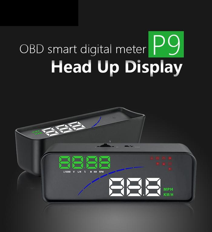 """3.6/"""" Car HUD Head Up Display OBD2 EUOBD Smart Speedometer Speed Warning System"""
