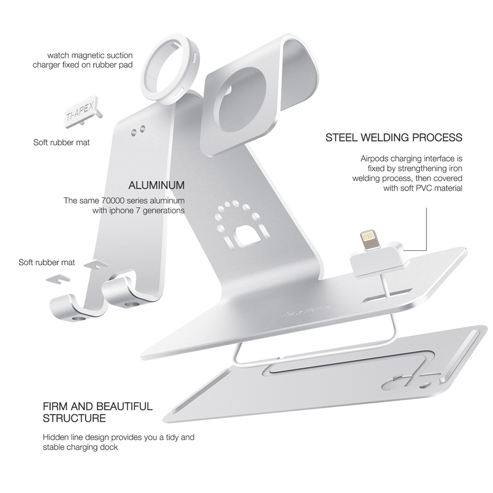 Bestand H06 3-in-1 Phones AirPods Watches Stand