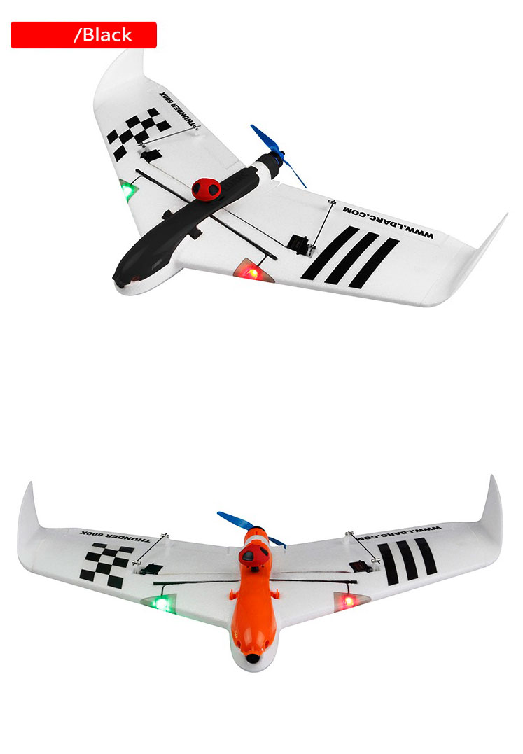 Kingkong / LDARC THUNDER 600X RC Самолет 656mm Wingspan EPO Kit Версия - черный