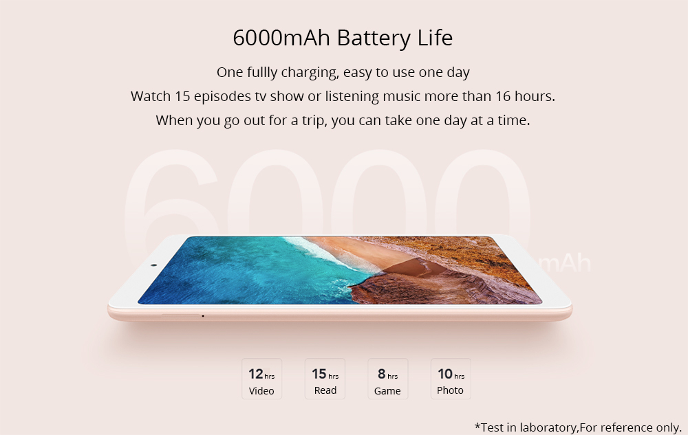 "Xiaomi Mi Pad 4 WiFi Tablet PC MIUI 9 Qualcomm Snapdragon 660 Octa Core 8"" 1920*1200 3GB DDR4 32GB eMMC - Gold"